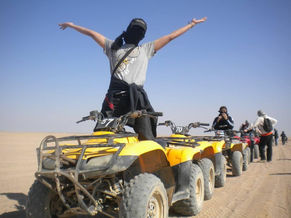 Quad ATV Fahren Safari Tour 5 Stunden mit Sonnenuntergang ab safaga hafen